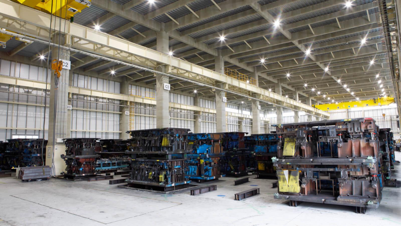 額田工場の金型倉庫